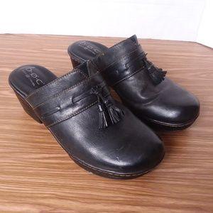 b.o.c. Elsbury black clogs sz 9M